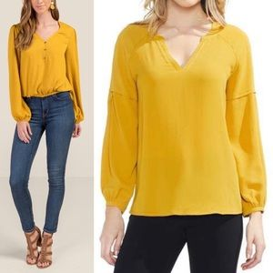 Westbound mustard tunic top XL